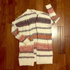 Loft - long cardigan sweater with pockets